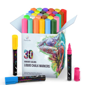 Liquid Chalk Markers 30 Colors By Positive Art Bright Colors