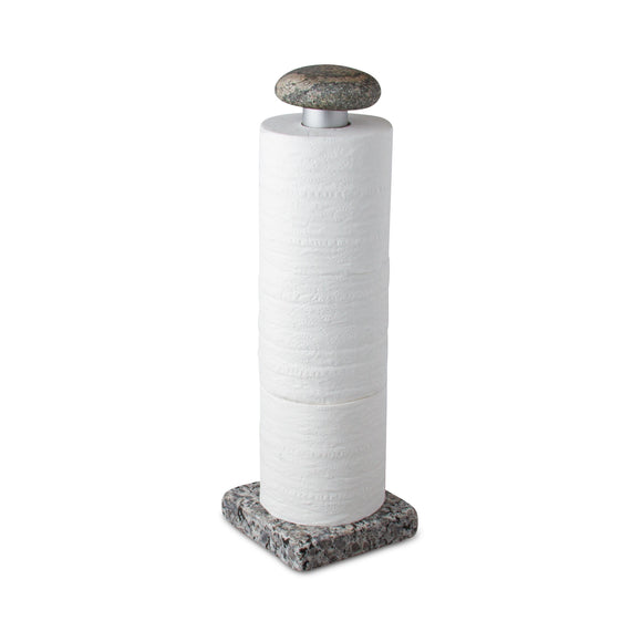 Bath Tissue Holder with Stone Finial