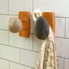 Stone Hook Coast Hook Black and White Stones Cherry in Bathroom