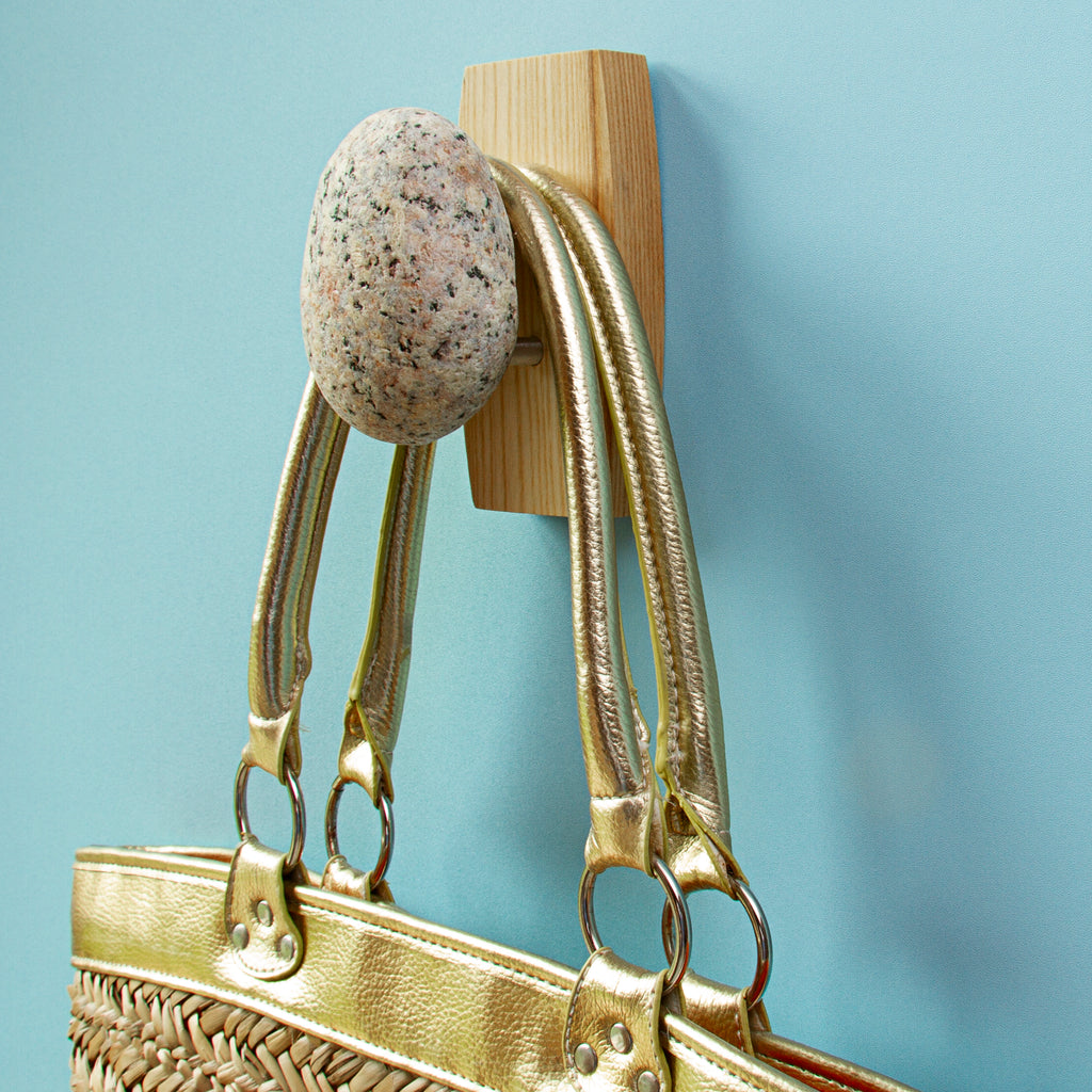 Coast Hook in Ash with Gold Purse