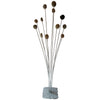 Cattail Sculpture made of Beach Stones, Stainless Steel, and Granite