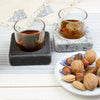 Cool Coasters Granite Chilling Set with Granite Whiskey Stone with Nuts