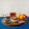 Cool Coasters Granite Chilling Set with Granite Whiskey Stone on a Tray with Chocolate, Cheese, Fruit