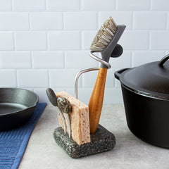 Sea Stone Splash Dish Brush and Sponge Holder