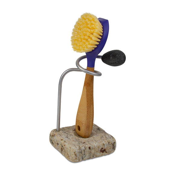 Twirl Dish Brush Holder with Brush