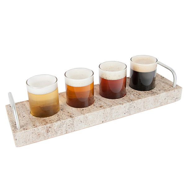 Granite Beer Flight with Four Types of Beer