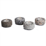 Four Granite Tea Lights