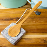 Nestle Granite Spoon Rest with Wooden Spoon Wooden Cutting Boards Enamel Pots