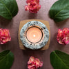 Heartstone Tea Light Holder Granite and Cherry Tea Light Holder