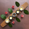 Harmony Tea Light Holder Granite and Cherry Tea Light Holder