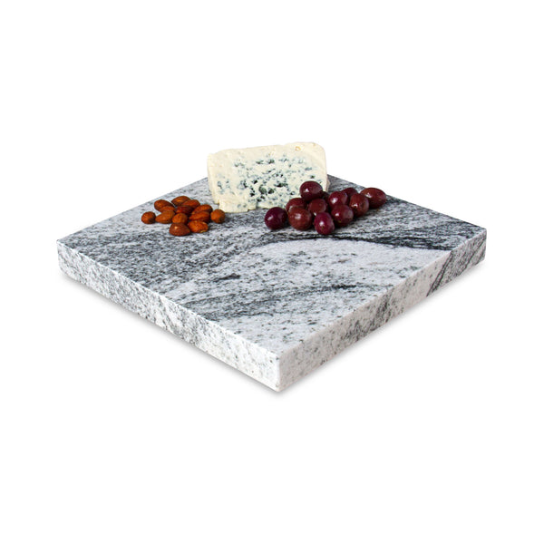 Sliced Edge Granite Lazy Susan with Cheese, Nuts, and Olives