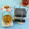Mighty Coasters Granite Coasters with Hardwood Ash Caddy Bourbon Nuts Napkin
