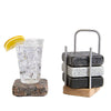 Mighty Coasters Granite Coasters with Hardwood Ash Caddy and Drink