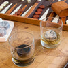 On The Rocks Granite Whiskey Stones Round Hardwood Tray Ash Glasses Tumblers Bourbon Backgammon World Map