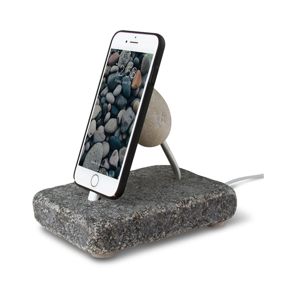 Rock Dock Natural Phone Charging Dock with Iphone