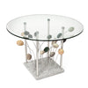 Sea Grass End Table Stone Granite Aluminum Glass Table
