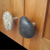 Serena Cabinet Knobs Stone Stainless Steel Cabinet Pulls Knobs on Cabinet