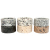 Granite Napkin Rings with Napkins