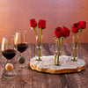 Touchstone Wine Glasses with Triple Bud Vase