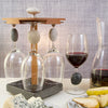 Pirouette Touchstone Wine Glass Holder with Wine Touchstone Wine Glass with Cheese and Pears