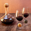 Touchstone Wine Glasses with Red Wine
