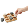 Tria Granite Cherry Tic Tac Toe Game with Hand