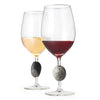 Touchstone Wine Glasses with Red and White Wine