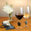Touchstone Stone Wine Glass with Cheese and Flowers
