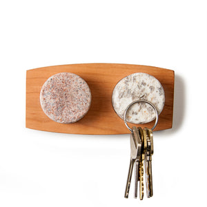 Wall Mount Key Haven Granite and Cherry with Keys