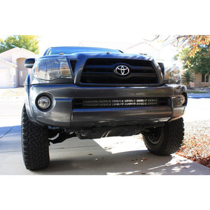 Toyota Tacoma Lower Bumper Grille Hidden Insert LED Light Bar Mounting Brackets | 2005 - Current | 32 Inch Bar