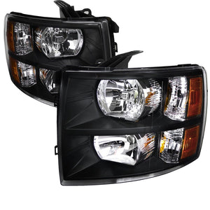 2007-2014 Chevrolet Silverado | Black Headlights