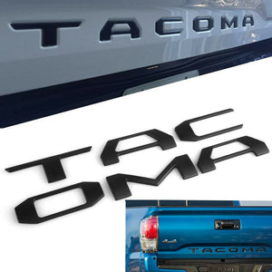 Toyota Tacoma | Tailgate Letter Inserts | ABS Material