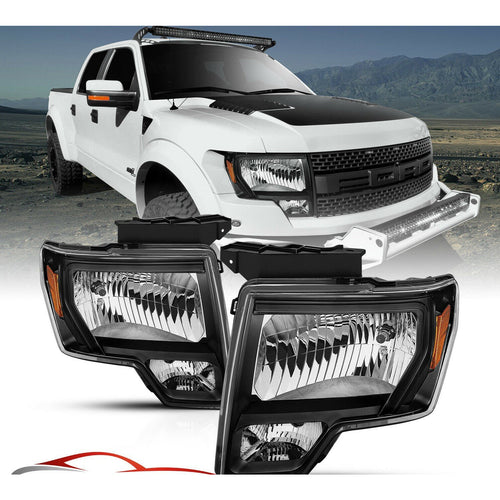 2009-2014 Ford F150 | Headlights Black