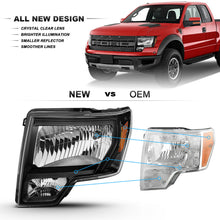 Load image into Gallery viewer, 2009-2014 Ford F150 | Headlights Black