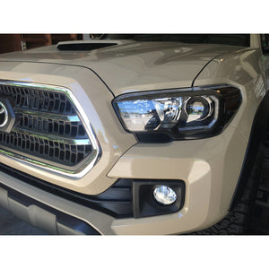 2016-2020 Toyota Tacoma Headlights | Black Headlights | W/ DRL