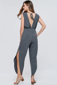 After the Ride Jumpsuit-Charcoal Gray