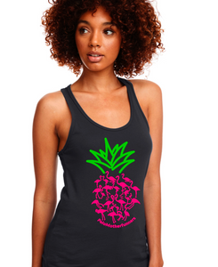 Pineapple Flamingo Motherfunners- Racerback Tank