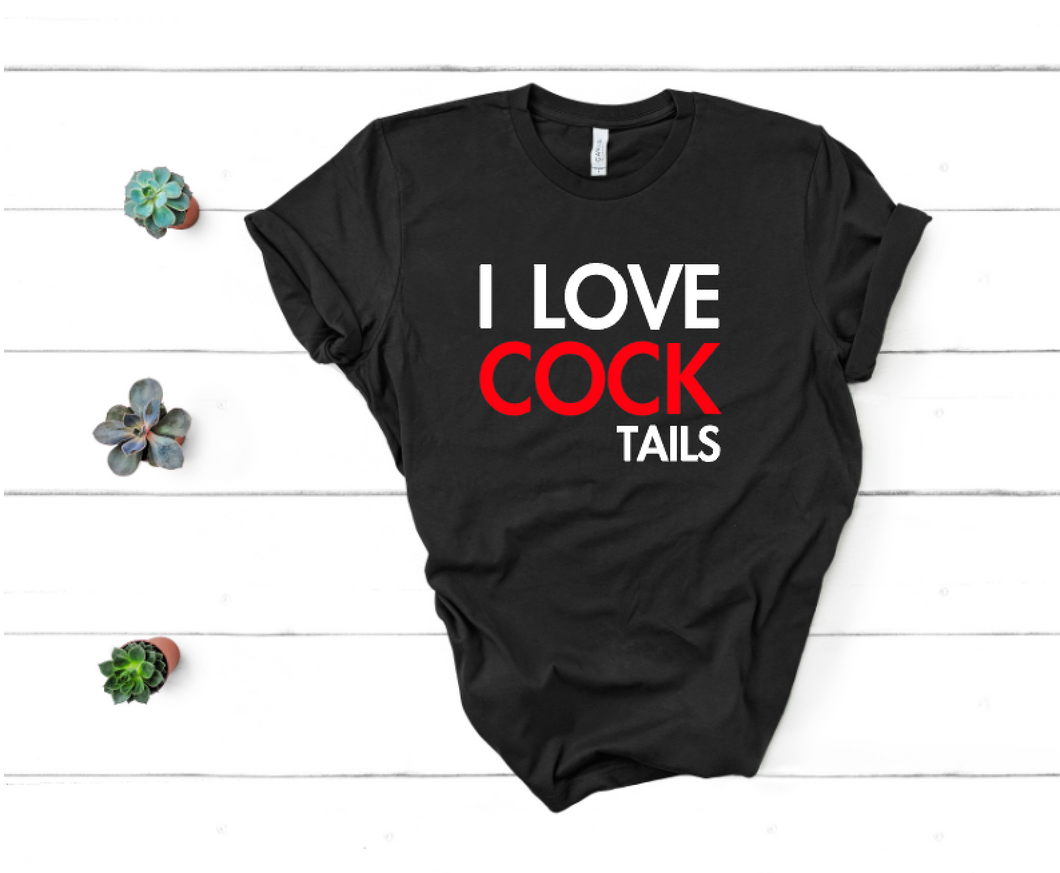 I Love Cocktails- Unisex Tee