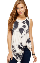 Tie Dye Side Twist Tank