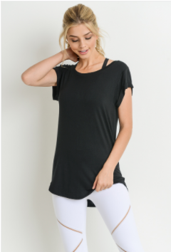 Easy Breezy - Essential Round New Cap Sleeve Shirt