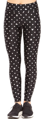 Terez - Mickey Mouse & Minnie Mouse Polka Dot Foil Tall Band Leggings