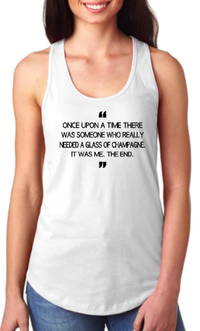 Once Upon a Time- Champagne - Racerback Tank