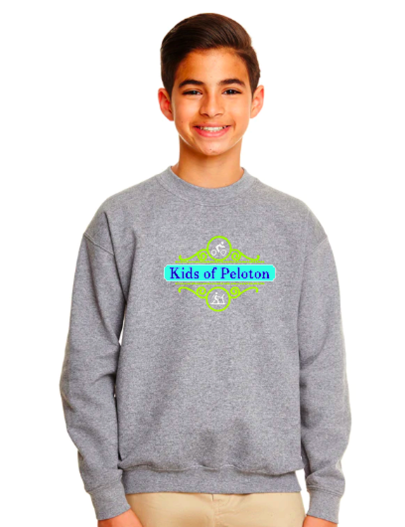 Kids Of Peloton- Scroll - Crew Sweatshirt