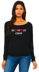 Shout Out Crew - Flowy Off Shoulder T-shirt by Bella