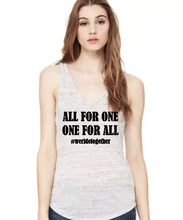 All For One, One For All- Flowy V-Neck Tank