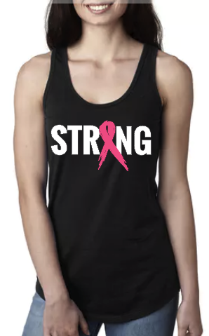 STRONG Cancer Ribbon - Racerback Tank