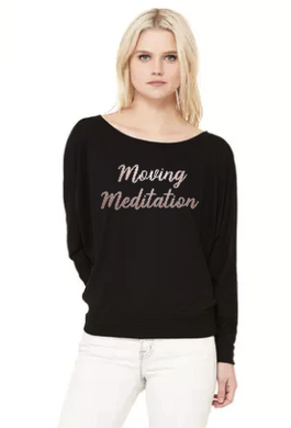 Moving Meditation- Flowy Off Shoulder T-shirt by Bella