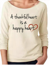A Thankful Heart-Ladies' French Terry 3/4-Sleeve Raglan
