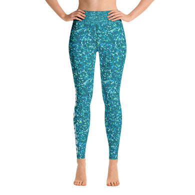 Teal Glitter Pelo PMG 2019 - Yoga Leggings