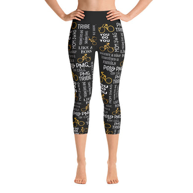 Pelo PMG Gold Yoga Capri Leggings